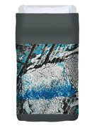 Blue Canyons Colliding Duvet Cover
