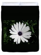 Blue Center Daisy Duvet Cover