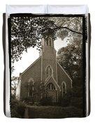 Blue Church In Gloucester Duvet Cover