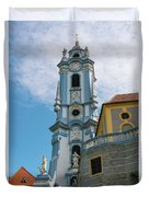 Blue Church Tower In Durnstein Duvet Cover
