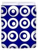 Blue Circles Duvet Cover