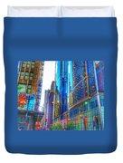 Blue Cityscape Duvet Cover