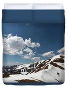 Blue Cloudy Sky Over Spring Tatra Mountains, Poland, Europe Duvet Cover