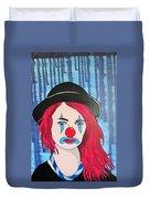 Blue Clown Duvet Cover