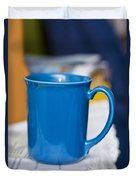 Blue Coffee Cup Duvet Cover