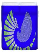 Blue Colored Metal Panel Tempe Center For The Arts Abstract Duvet Cover