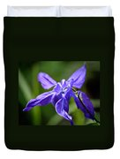 Blue Columbine Duvet Cover