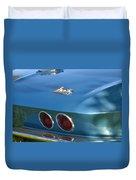 Blue Corvette Stingray Duvet Cover