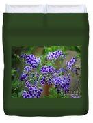 Blue Cottage Flowers Duvet Cover