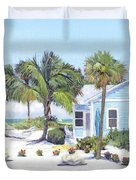 Blue Cottage On Siesta Key Beach, Access 3 Duvet Cover