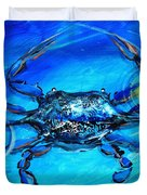 Blue Crab Abstract Duvet Cover