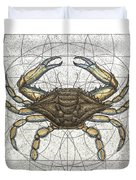 Blue Crab Duvet Cover by Charles Harden