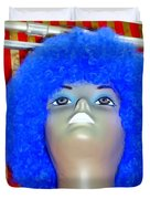 Blue Curled Cutie Duvet Cover