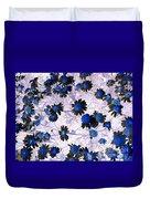 Blue Daisy Duvet Cover