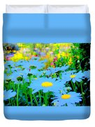 Blue Daisy Duvet Cover