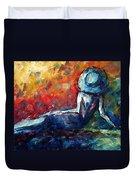 Blue Daze Original Madart Painting Duvet Cover