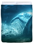 Blue Depths Sea Turtle Duvet Cover