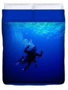 Blue Diver Duvet Cover
