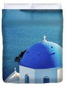 Blue Dome Duvet Cover