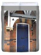 Blue Door At 49 High Duvet Cover