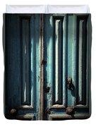Blue Door. Essaouira. Morocco Duvet Cover
