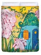 Blue Door Fairy House Duvet Cover