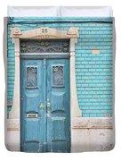 Blue Door, Portugal Duvet Cover