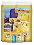 Blue Doors Of The Taos Pueblo Duvet Cover