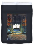 Blue Drawing Room Duvet Cover by DigiArt Diaries by Vicky B Fuller
