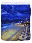 Blue Dusk Ipanema Duvet Cover