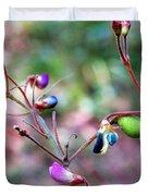 Blue Dwarf Blossom Duvet Cover