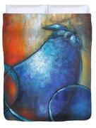 Blue Eggplants Duvet Cover