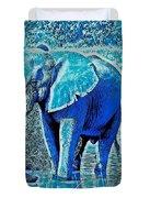 Blue Elephant Duvet Cover