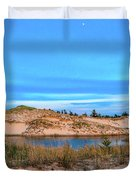 Blue Evening In Ludington State Park Duvet Cover