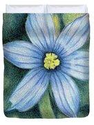 Blue Eyed Grass - 1 Duvet Cover