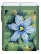 Blue Eyed Grass - 1 Duvet Cover