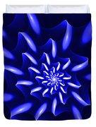 Blue Fantasy Floral Duvet Cover