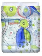 Blue February Duvet Cover