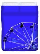 Blue Ferris Wheel Duvet Cover