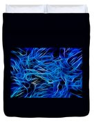 Blue Fibers Intertwined Duvet Cover