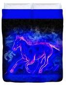 Blue Fire Horse - Da Duvet Cover