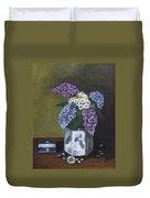 Blue Fish Vase Duvet Cover