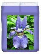 Blue Flag Iris Duvet Cover
