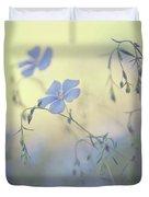 Blue Flex Flower. Nostalgic Duvet Cover