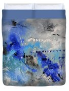 Blue Flight Abstract Duvet Cover