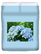 Blue Floral Hydrangea Flower Summer Garden Basle Troutman Duvet Cover
