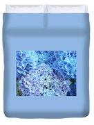 Blue Floral Hydrangreas Flowers Art Baslee Troutman Duvet Cover