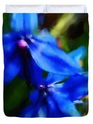 Blue Flower 10-30-09 Duvet Cover