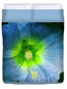 Blue Flower In Morning Sun Duvet Cover