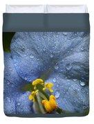 Blue Spring Flower Duvet Cover